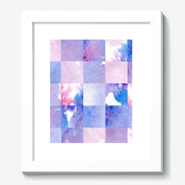 Картина «Акварельная мозаика в сине-фиолетовых тонах»