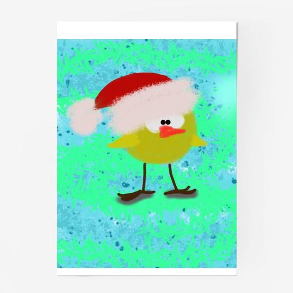 Постер «Новогодний цыпленок»