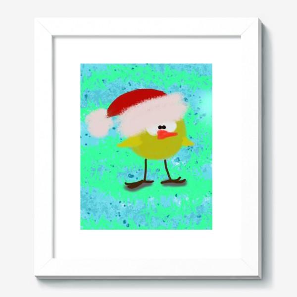 Картина «Новогодний цыпленок»