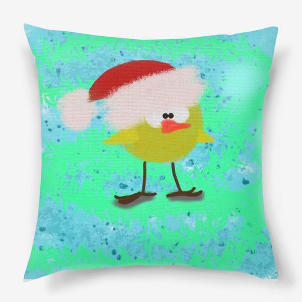 Подушка «Новогодний цыпленок»