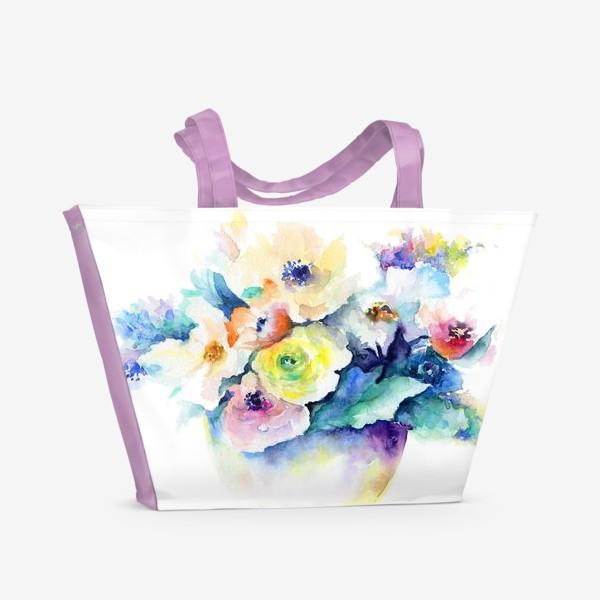 Пляжная сумка «Букет. Фантазия.»