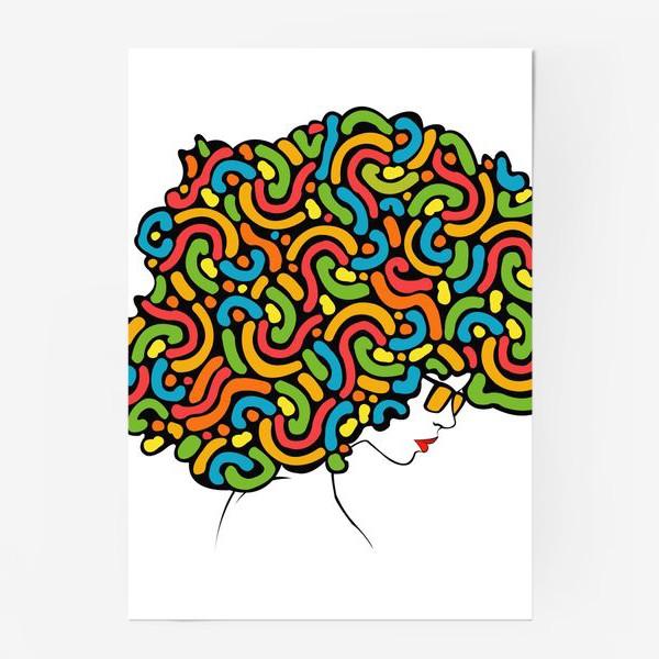 Постер «abstraction girl»