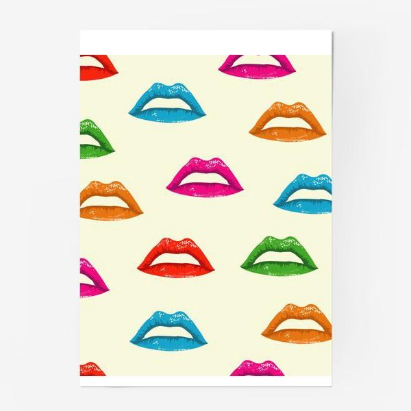 Постер «bright lips»
