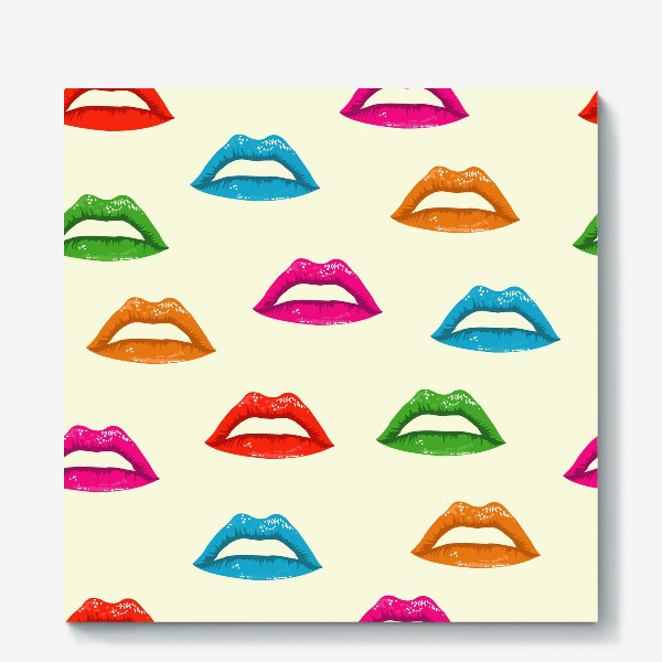 Холст «bright lips»