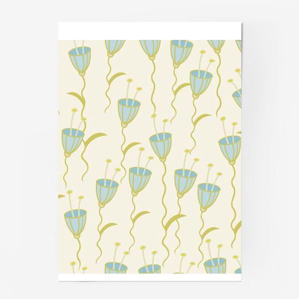 Постер «campanula flowers»