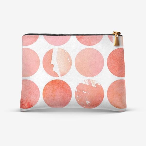 Косметичка «Акварельный паттерн в розовых и коралловых тонах»