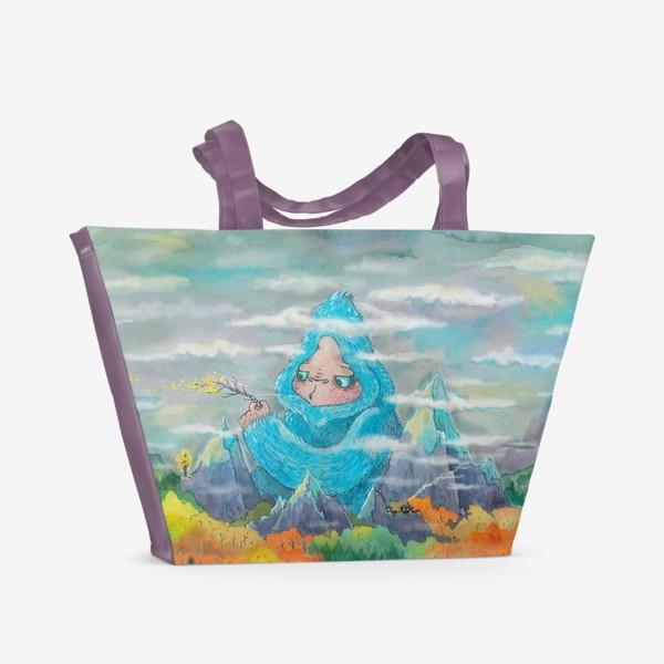 Пляжная сумка «Загадай желание (Осень, горы)»