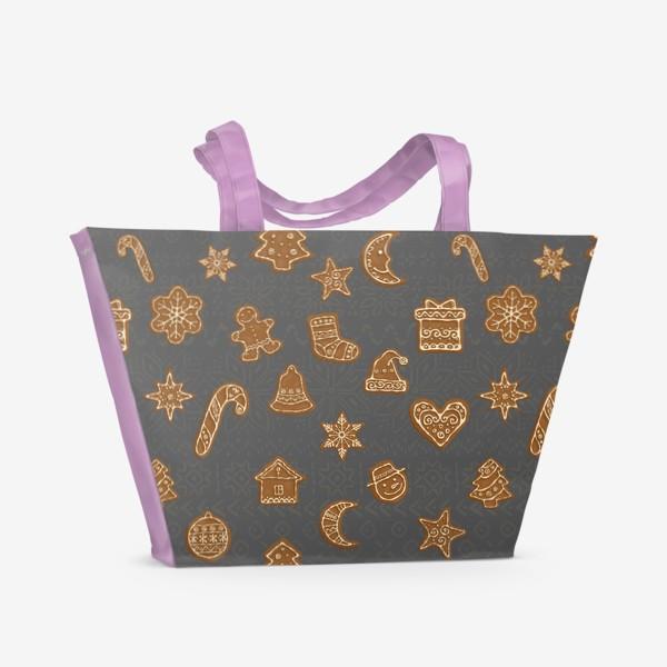 Пляжная сумка «Рождественские пряники»