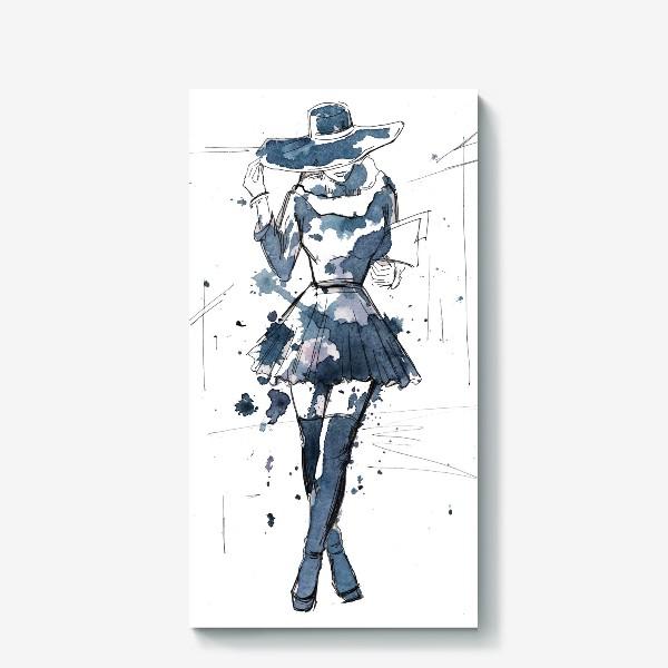Холст «Модная девушка»