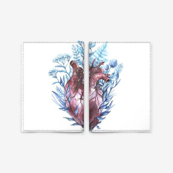Обложка для паспорта «Сердце и травы»