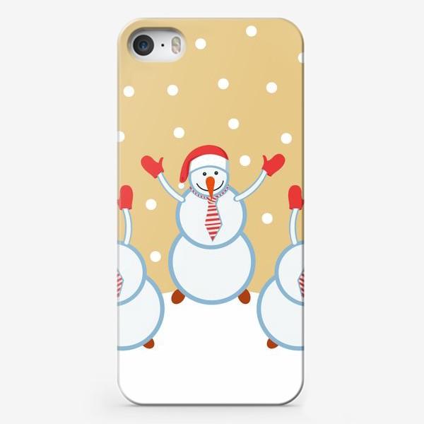 Чехол iPhone «позитивные снеговики»