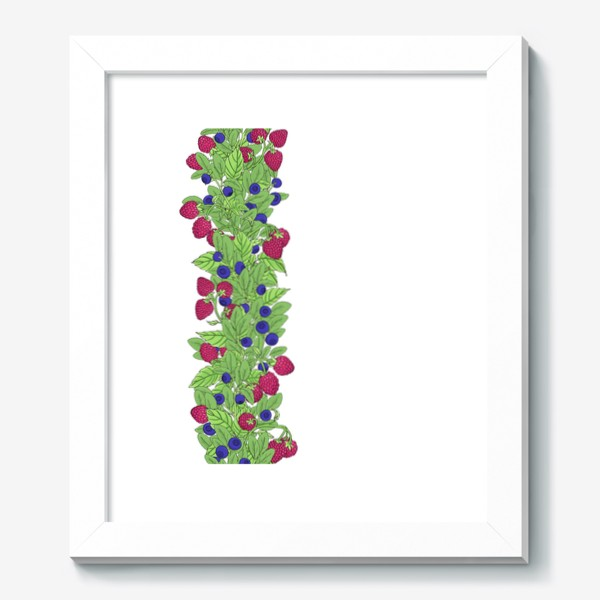 Картина «Летние ягоды паттерн»
