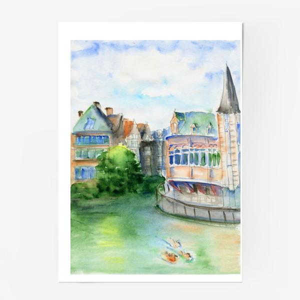 Постер «Город Гент Бельгия»
