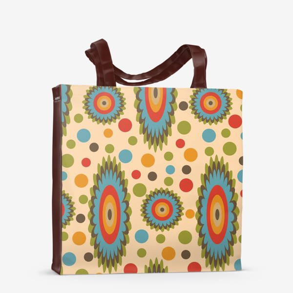 Сумка-шоппер «узор цветная фантазия»