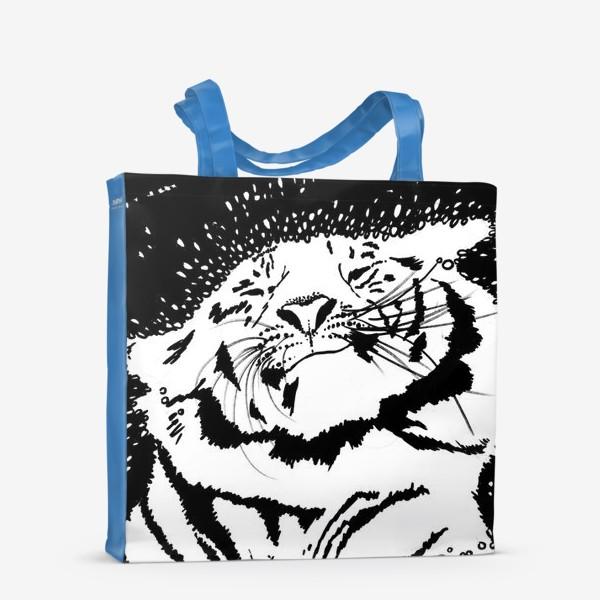 Сумка-шоппер «Белый тигр»