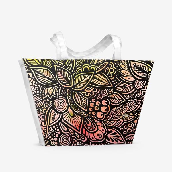 Пляжная сумка «Паттерн, осень»