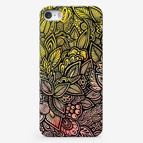 Чехол iPhone «Паттерн, осень»