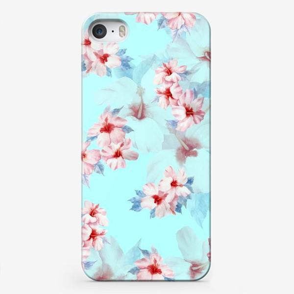 Чехол iPhone «Гибискус Акварель»