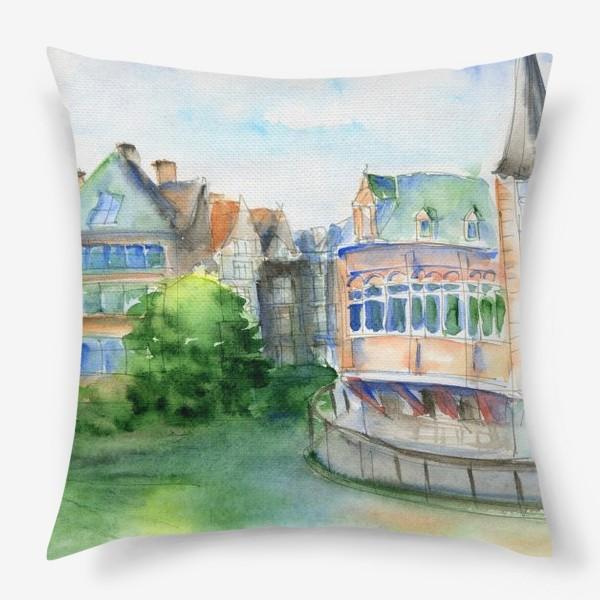 Подушка «Город Гент Бельгия»