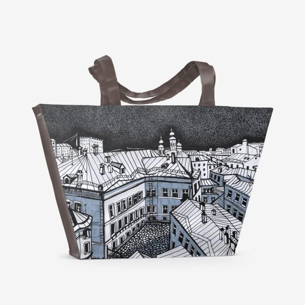 Пляжная сумка «Город Москва»