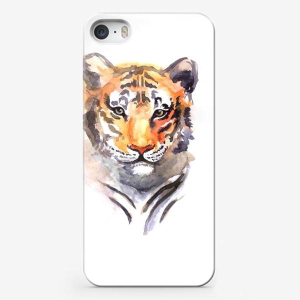 Чехол iPhone «Акварельный тигр»