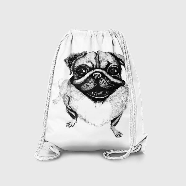 Рюкзак «Любите мопсов,они с другой планеты»