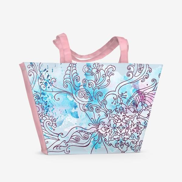 Пляжная сумка «Зима узор»