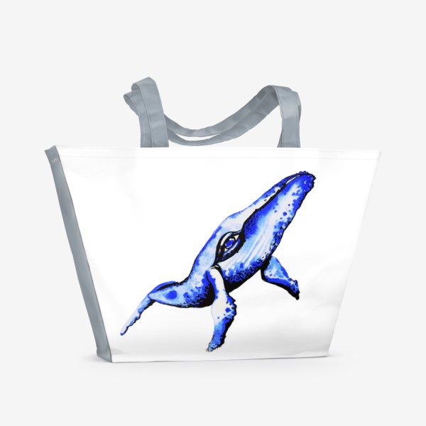 Пляжная сумка «Кит - мечта каждого романтика»