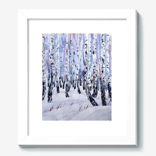 Картина «Зимние берёзки»