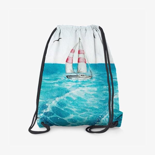 Рюкзак «корабль в море»