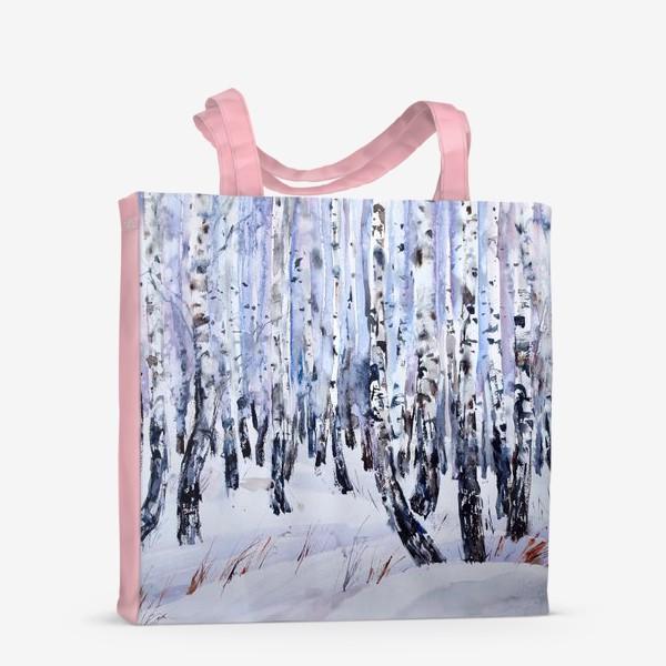 Сумка-шоппер «Зимние берёзки»