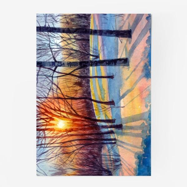 Постер «Зимний закат»