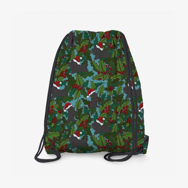 Рюкзак «Рождественский паттерн с Шотландскими терьерами»