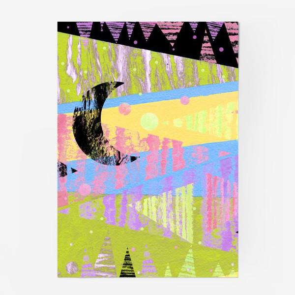 Постер «Новогодние яркие елки»