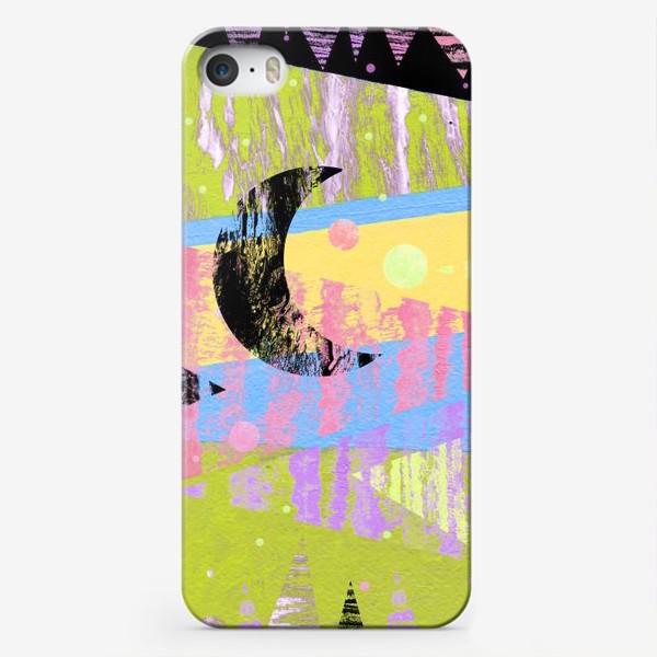 Чехол iPhone «Новогодние яркие елки»