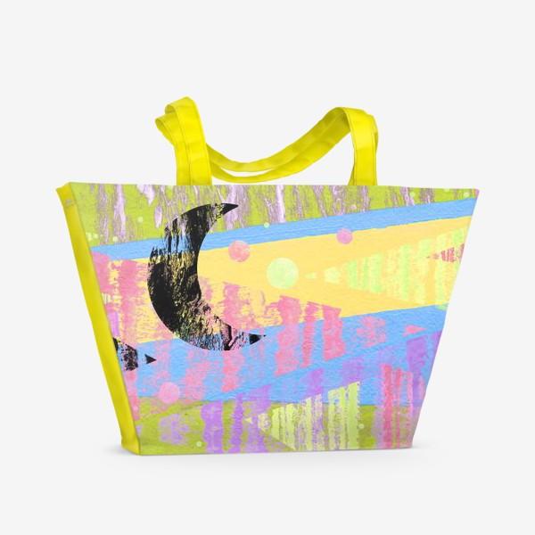Пляжная сумка «Новогодние яркие елки»