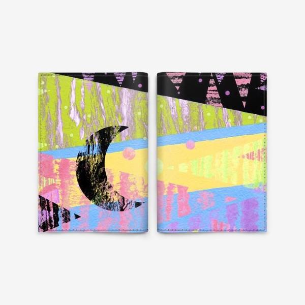 Обложка для паспорта «Новогодние яркие елки»