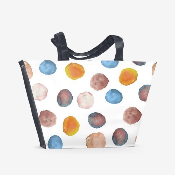 Пляжная сумка «Акварельные кляксы»