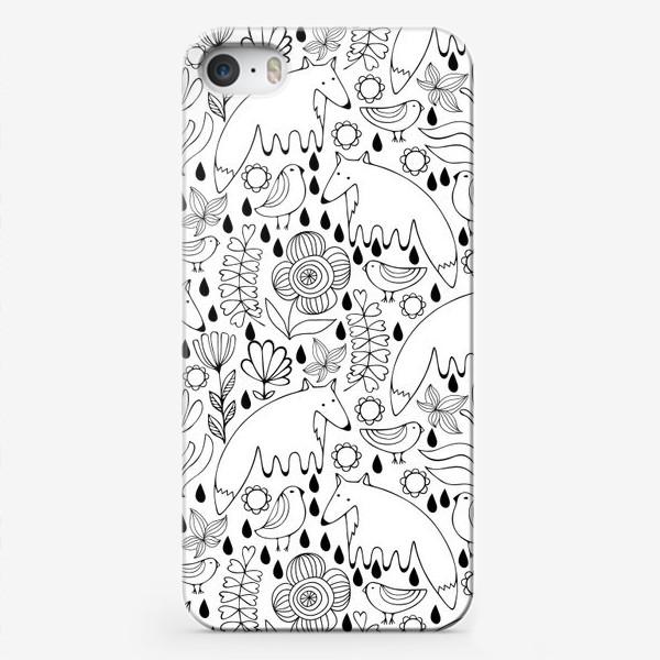 Чехол iPhone «Белые лисы»