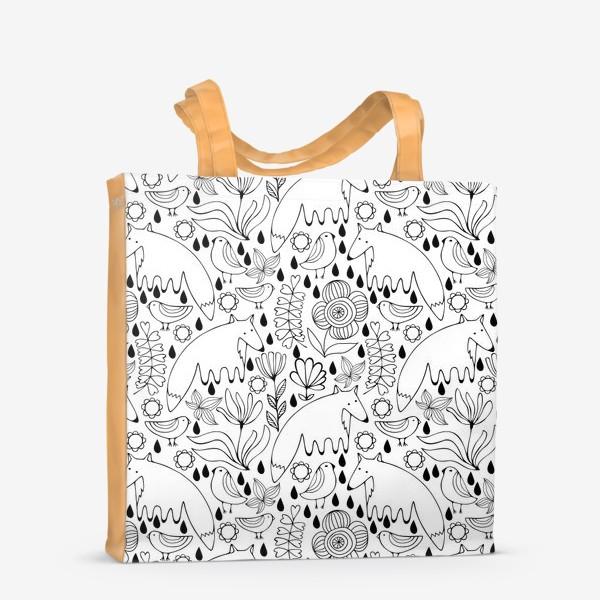 Сумка-шоппер «Белые лисы»