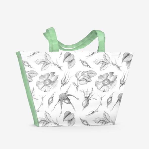 Пляжная сумка «Шиповник. »