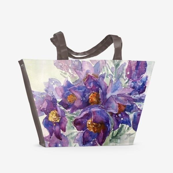 Пляжная сумка «Весенний букетик»
