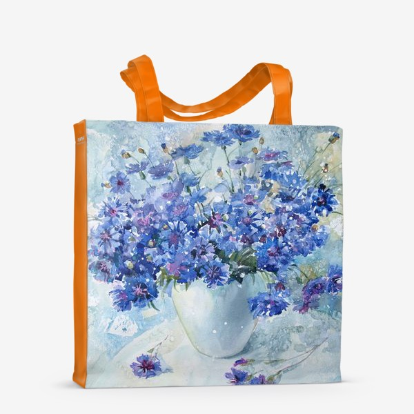Сумка-шоппер «Букет полевых васильков»