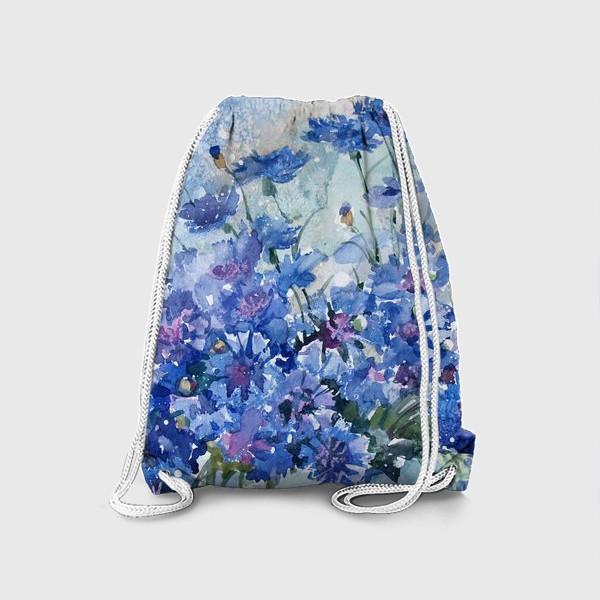 Рюкзак «Букет полевых васильков»