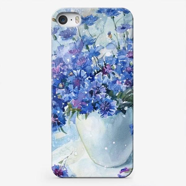 Чехол iPhone «Букет полевых васильков»