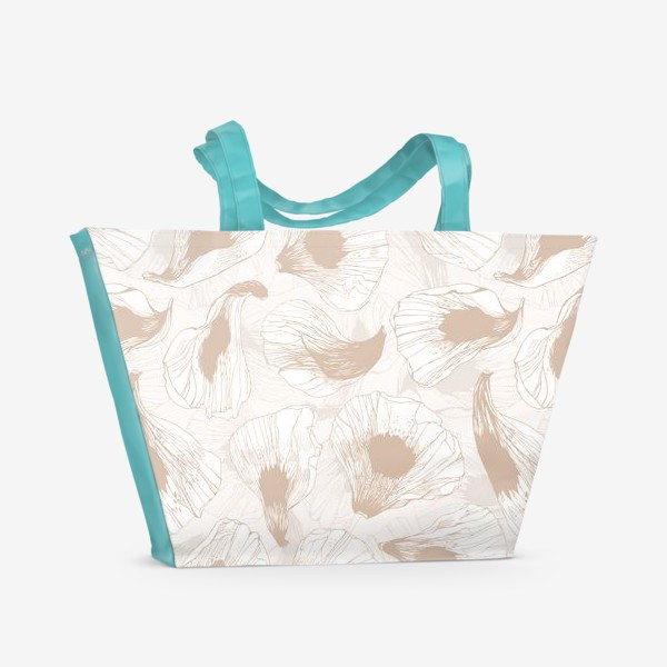 Пляжная сумка «Лепестки твоих цветов -2»