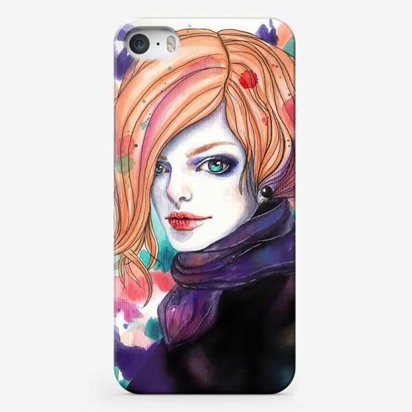 Чехол iPhone «Изумрудные глаза»