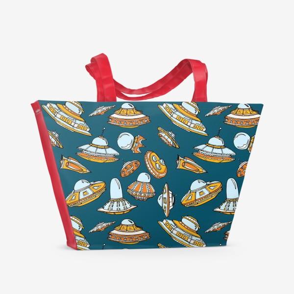 Пляжная сумка «Летающие тарелки»