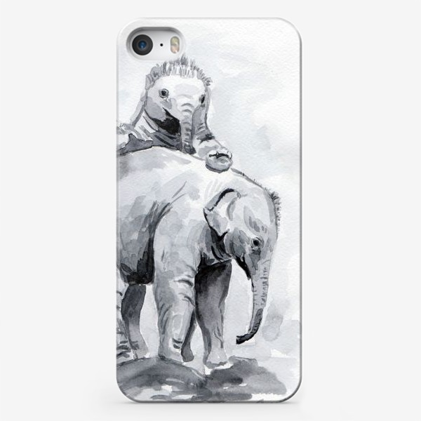 Чехол iPhone «Слонята»
