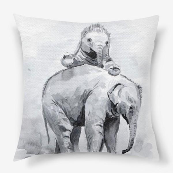 Подушка «Слонята»
